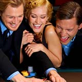 3 people playing Poker